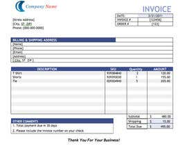 #5 para Design my Invoice Template por DelicateCreation