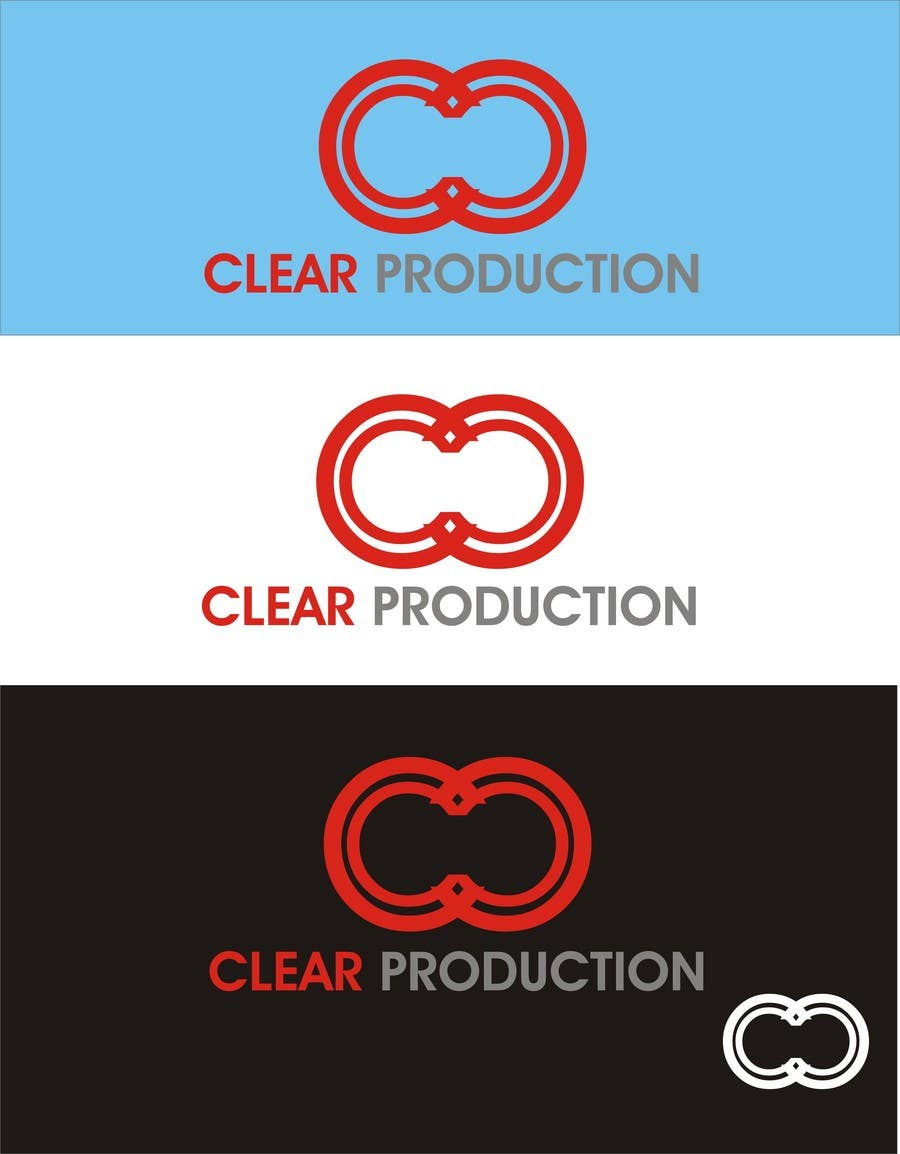 "Contest Entry #                                        1391                                      for                                         Logo Design for ""CLEAR PRODUCTION"" - Recording a mixing studio in Copenhagen"