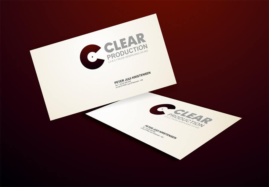 """Contest Entry #                                        1363                                      for                                         Logo Design for """"CLEAR PRODUCTION"""" - Recording a mixing studio in Copenhagen"""