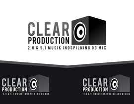 "#1312 untuk Logo Design for ""CLEAR PRODUCTION"" - Recording a mixing studio in Copenhagen oleh marcoartdesign"