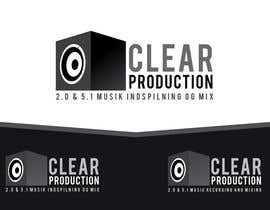 "#1187 cho Logo Design for ""CLEAR PRODUCTION"" - Recording a mixing studio in Copenhagen bởi marcoartdesign"