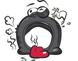 nº 24 pour Car Tire Character par Xense