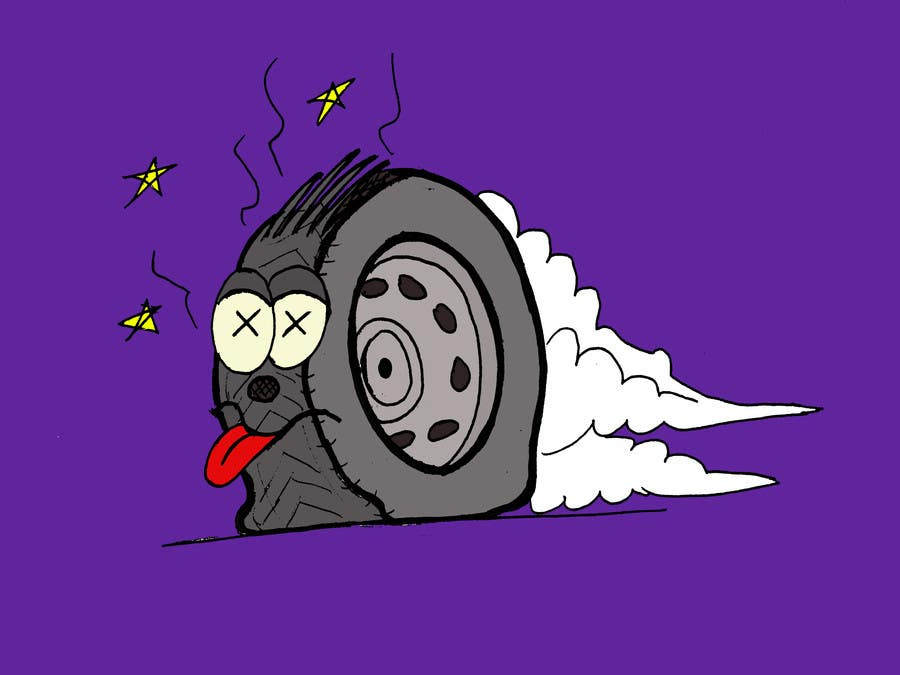 #7 for Car Tire Character by erikalogiudice