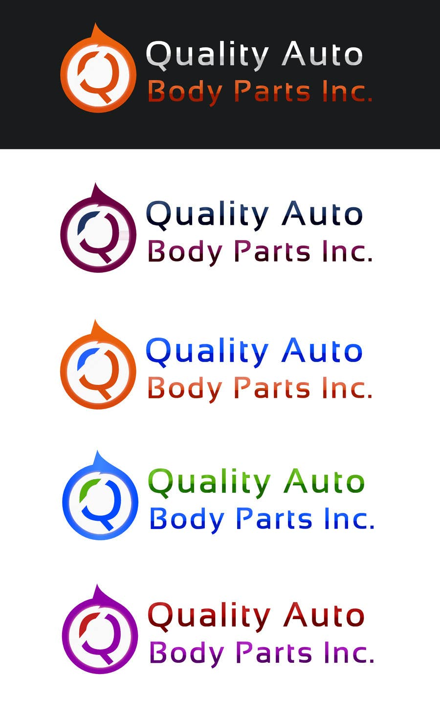 #26 for Design a Logo for Quality Auto Body Parts Inc. by developingtech