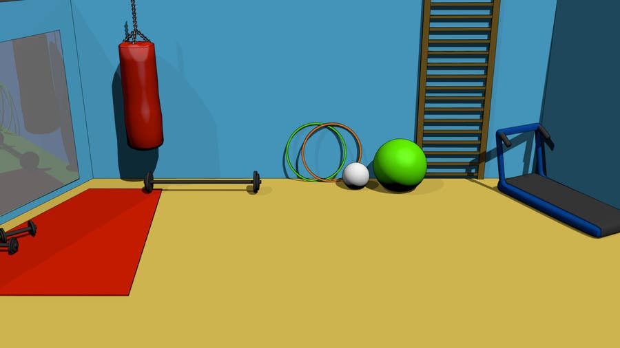 Design a gym green screen background freelancer