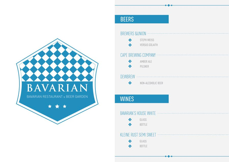 #2 for Design a Menu and Business Card for a Bavarian Restaurant and Beer Garden by Jgarisch12