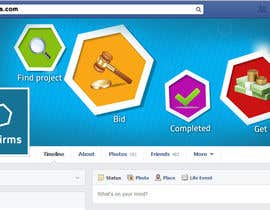 #20 para Design a Facebook landing page for a website that offers services to people por arunnm89