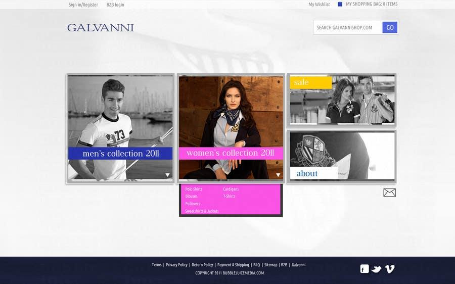 Inscrição nº 44 do Concurso para Website Design for Galvanni