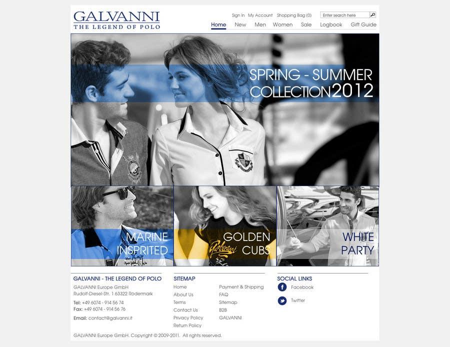 Inscrição nº 23 do Concurso para Website Design for Galvanni
