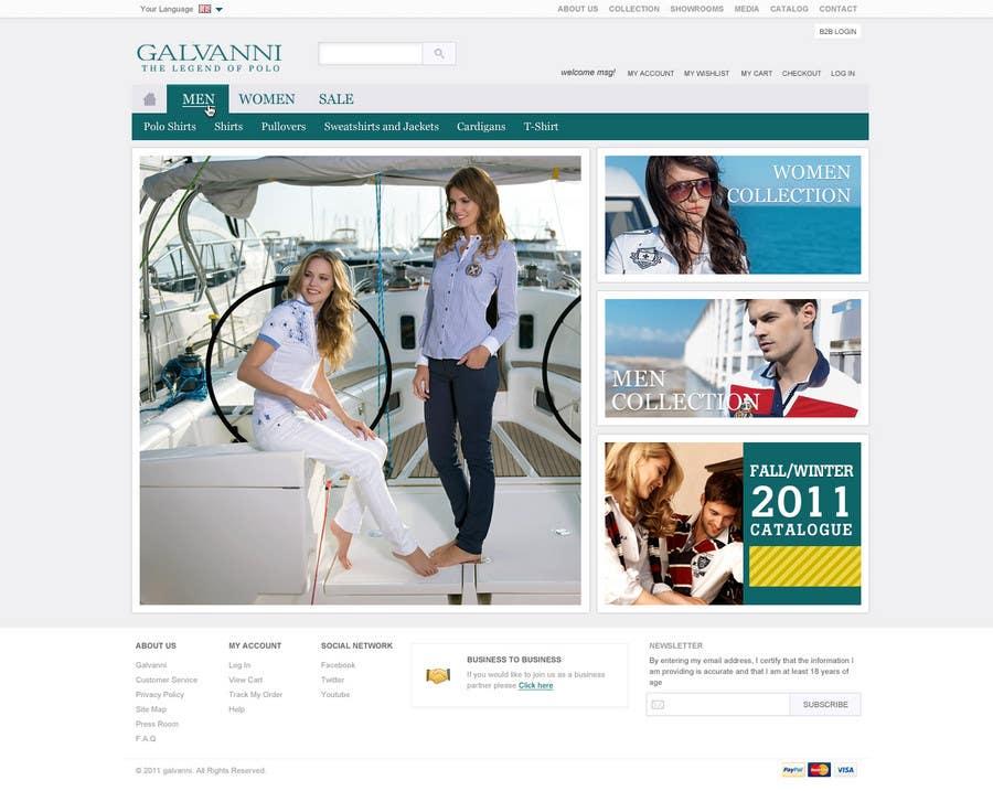 Inscrição nº 14 do Concurso para Website Design for Galvanni