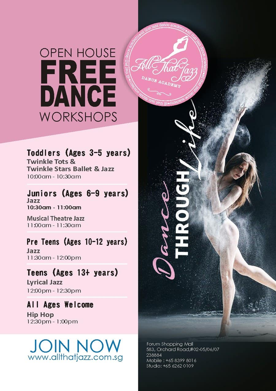 Entry #33 by ChathuSL for Open House Flyer for Dance Studio ...