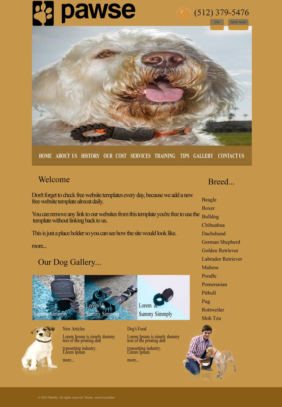 Entry #10 by stcserviciosdiaz for Design a Website For Pawse Dog ...