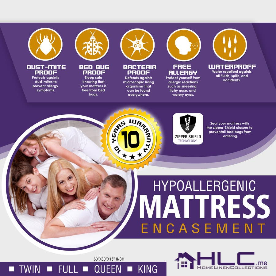 Design A Product Packaging For A Mattress Protector