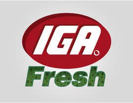 #142 cho Logo Design for IGA Fresh bởi Jhacobson