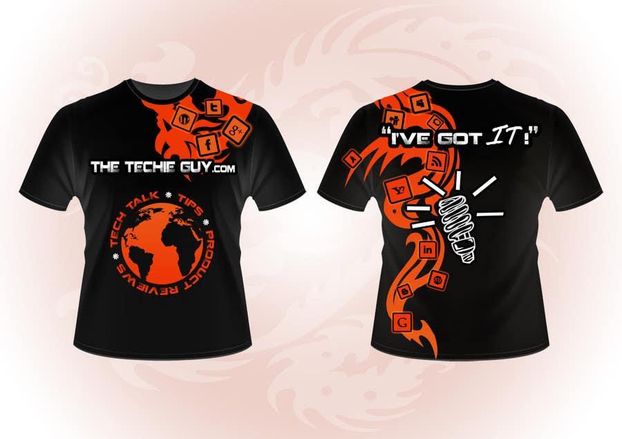 Конкурсная заявка №                                        29                                      для                                         T-shirt Design for TheTechieGuy.com