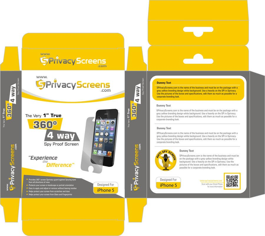 #5 for Corporate Branding Retail Box Design for www.SPrivacyscreens.com by suneshthakkar