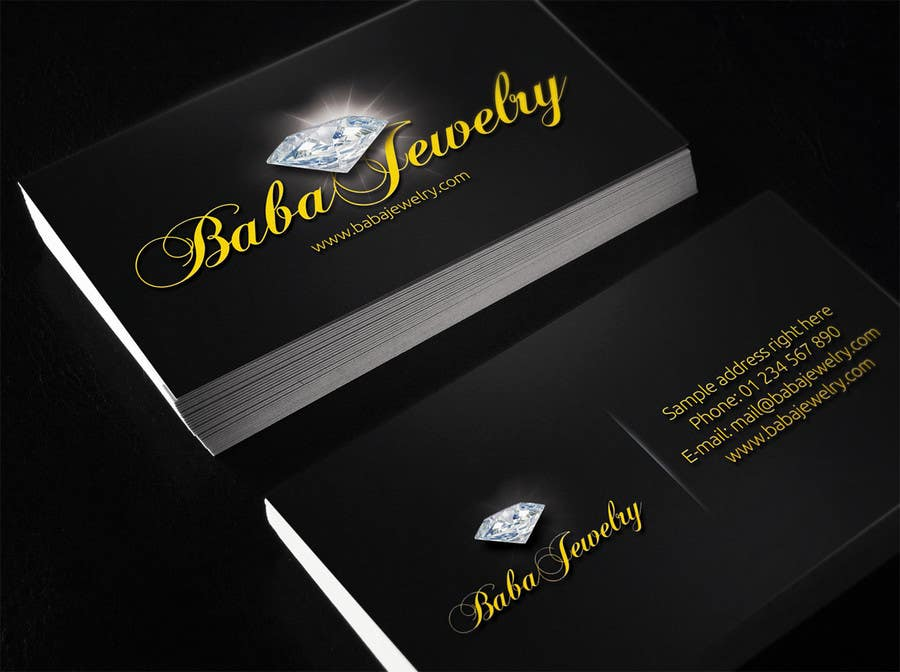 Entry #8 by ibib for Design some Business Cards for Jewelry Store ...