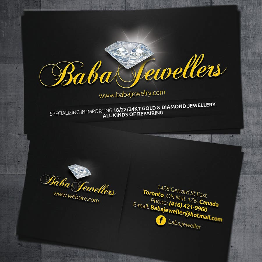 Entry #18 by ibib for Design some Business Cards for Jewelry Store ...