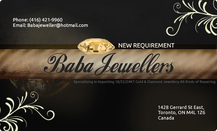 Entry 32 by monstergraphics for design some business cards for contest entry 32 for design some business cards for jewelry store reheart Gallery