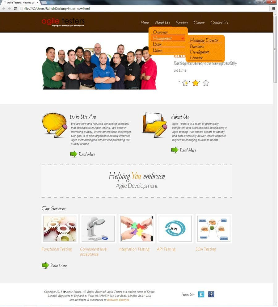 Bài tham dự cuộc thi #36 cho Redesign our company website