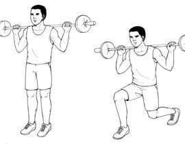 nº 9 pour Illustrations required for Weight Training Exercises in eBook par wulanike