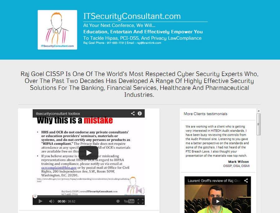 Kilpailutyö #12 kilpailussa Build a Website for ITSecurityConsultant.com