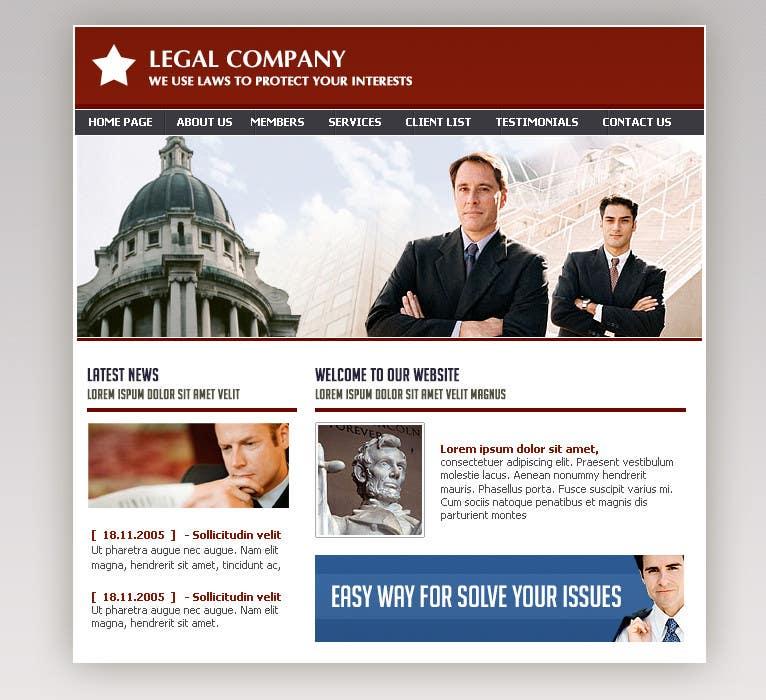 Kilpailutyö #8 kilpailussa Front page for legal website