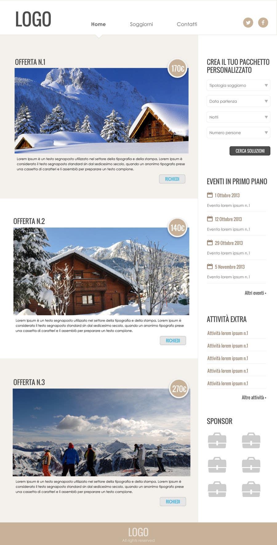 Bài tham dự cuộc thi #                                        6                                      cho                                         Disegnare la Bozza di un Sito Web for: offerte soggiorni (con attività) in località turistica di montagna