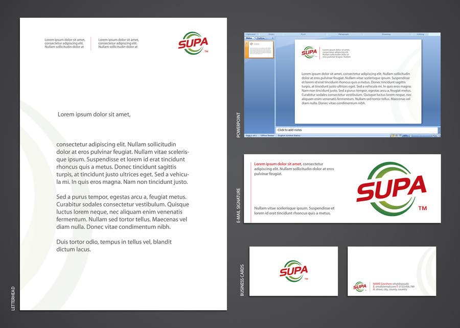 #33 for Develop a Corporate Identity for SUPA brand by spenky