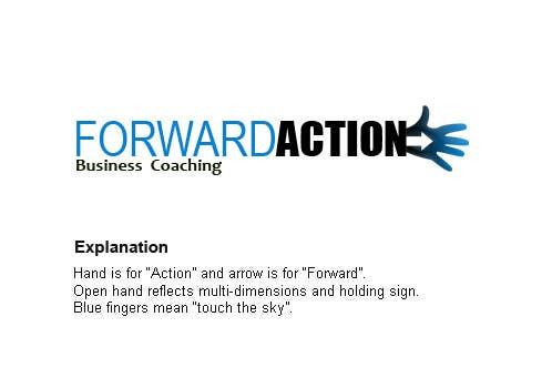 """Participación en el concurso Nro.294 para Logo Design for Forward Action   -    """"Business Coaching"""""""