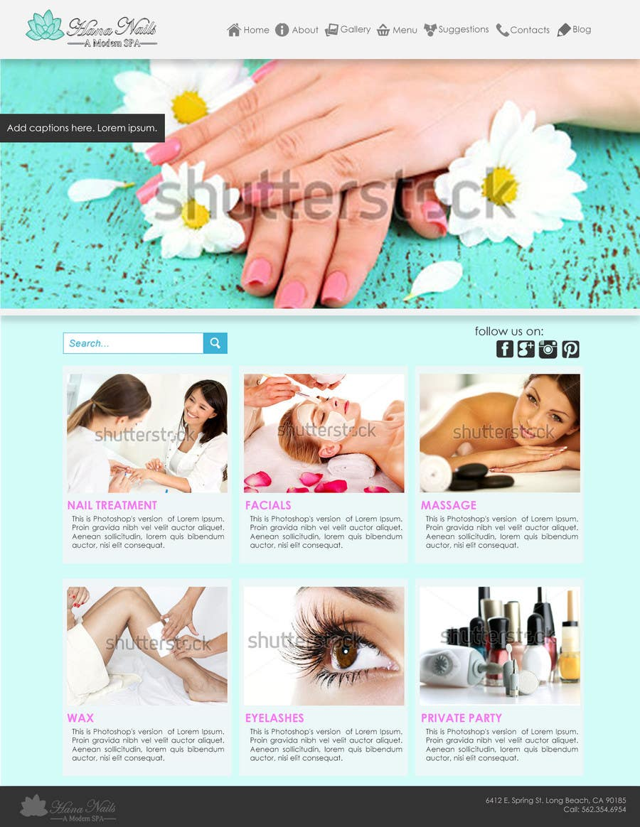 Contest Entry #                                        3                                      for                                         Upgrade an existing nail salon website