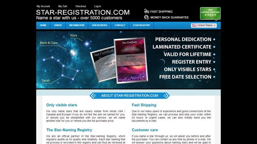 Proposition n°56 du concours Design a banner for a star naming website