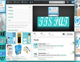 #11 para Design a Twitter background for me por Salimaldeen