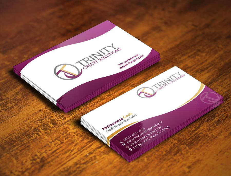 Nice credit cards for new businesses illustration business card entry 28 by adarshdk for design trinity credit solutions new reheart Images