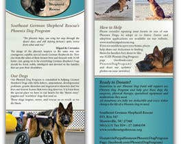 nº 10 pour Design a Brochure for Southeast German Shepherd Rescue's Phoenix Dog Program par tmorozova69