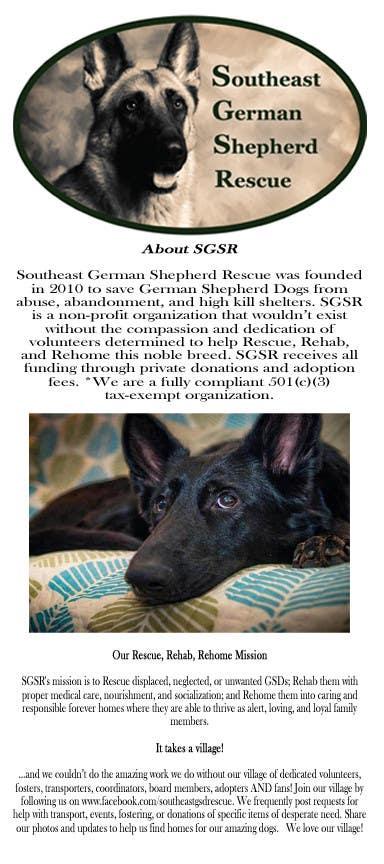 Design a Brochure for Southeast German Shepherd Rescue için 1 numaralı Yarışma Girdisi