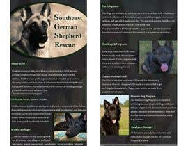 faizanakhunxada tarafından Design a Brochure for Southeast German Shepherd Rescue için no 3