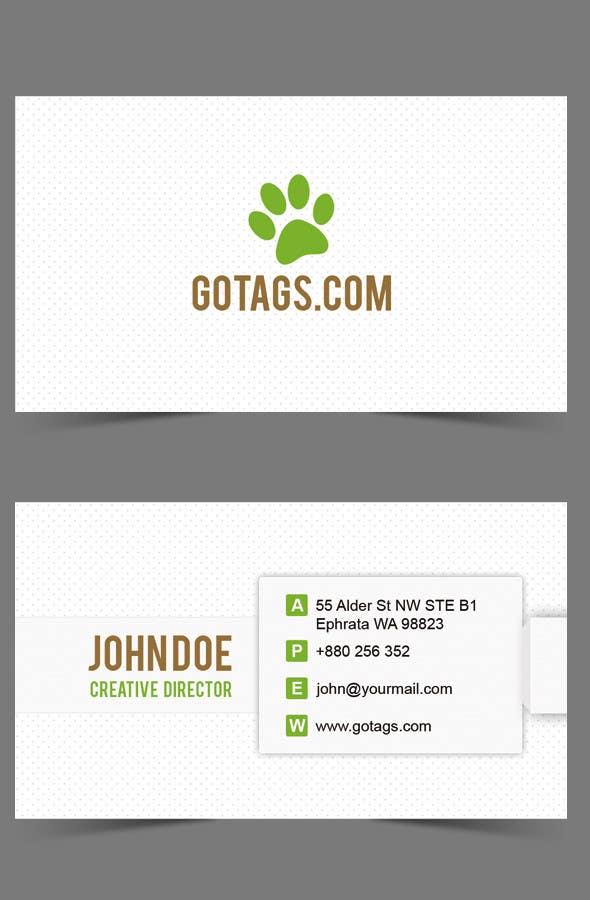 Bài tham dự cuộc thi #                                        60                                      cho                                         Business Card Design for GoTags.com LLC