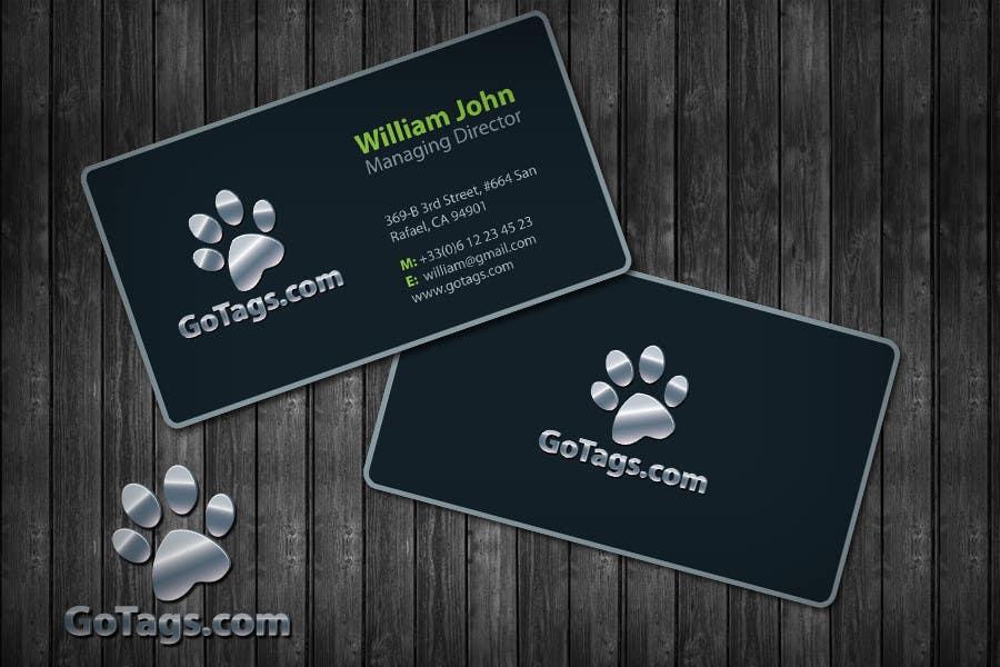Bài tham dự cuộc thi #                                        37                                      cho                                         Business Card Design for GoTags.com LLC