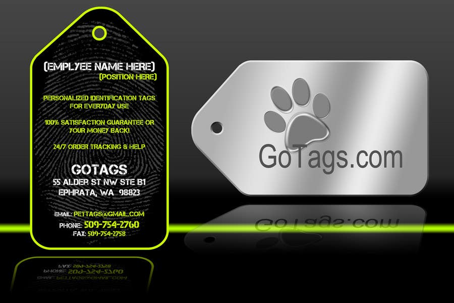 Конкурсная заявка №13 для Business Card Design for GoTags.com LLC