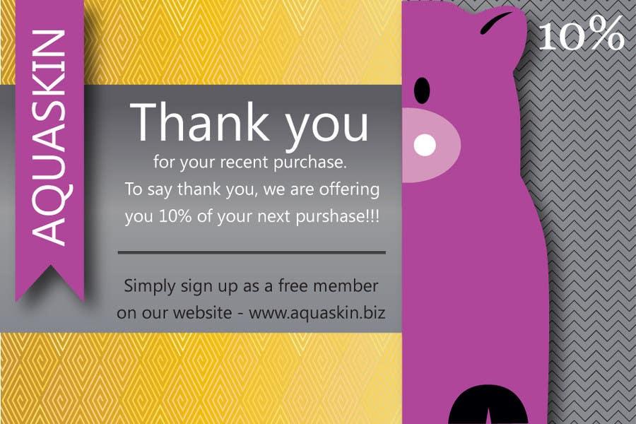 Contest Entry #10 for Design a one side voucher for AQUASKIN...