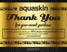 #16 for Design a one side voucher for AQUASKIN... by Mimi214