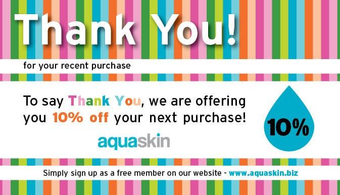 Konkurrenceindlæg #29 for Design a one side voucher for AQUASKIN...