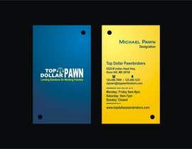 #140 pentru Business Card Design for Top Dollar Pawnbrokers de către BeyondColors