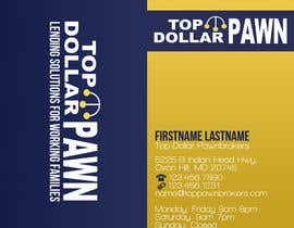nº 14 pour Business Card Design for Top Dollar Pawnbrokers par JoleenC