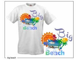 #94 para Tshirt design for Big Beach por zackushka