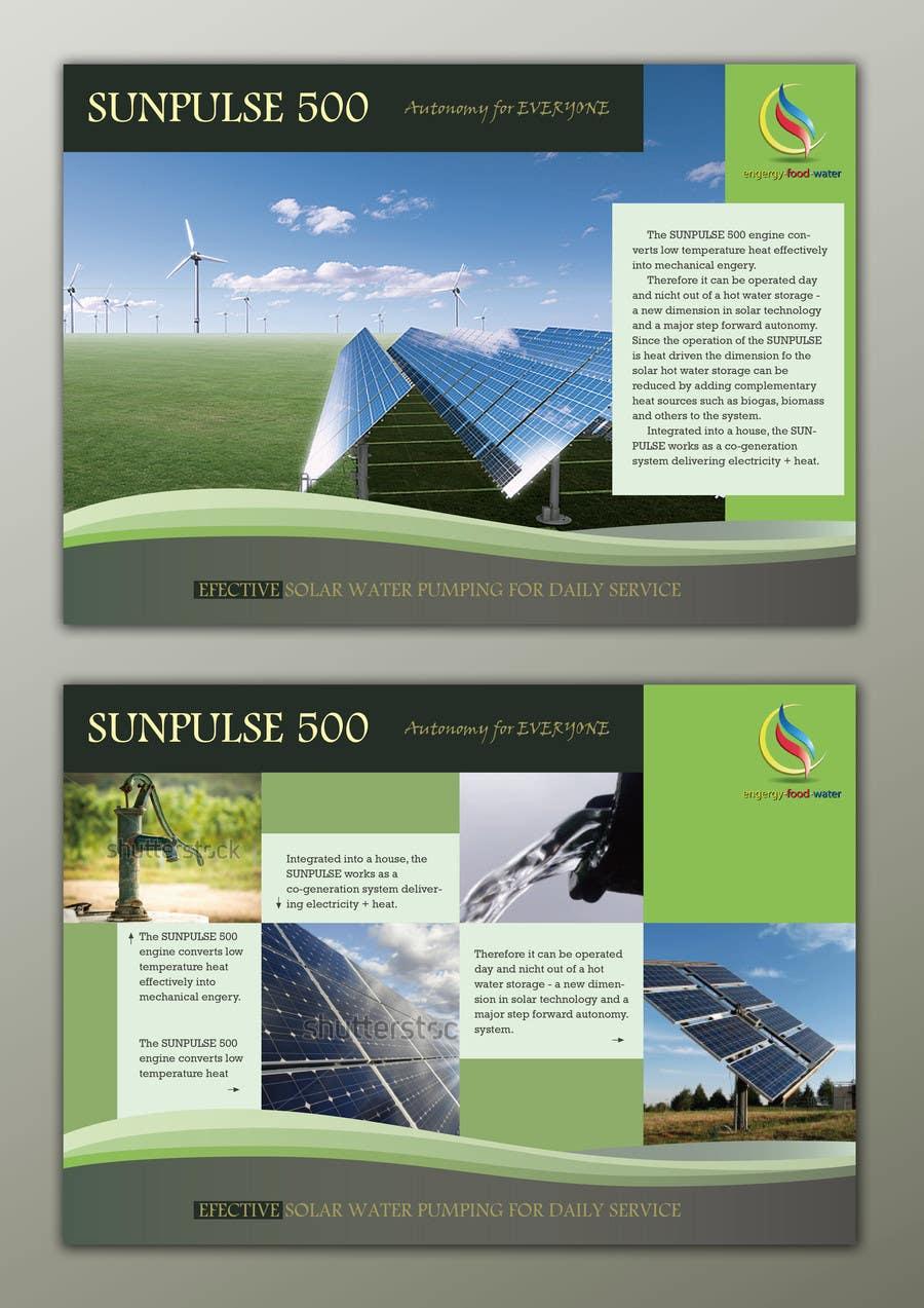 design of a brochure. autarkic energie. solar için 7 numaralı Yarışma Girdisi