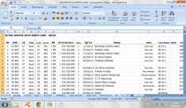 Data Entry Inscrição do Concurso Nº50 para Mengisikan sebuah Lembar Kerja dengan Data