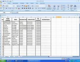 Nro 44 kilpailuun Mengisikan sebuah Lembar Kerja dengan Data käyttäjältä danangs22