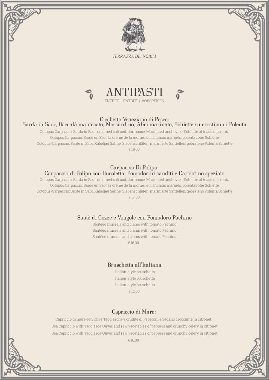 Elegant restaurant menu templates